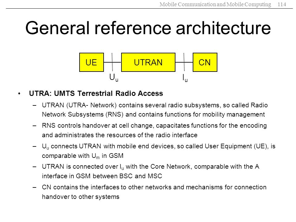 General reference architecture