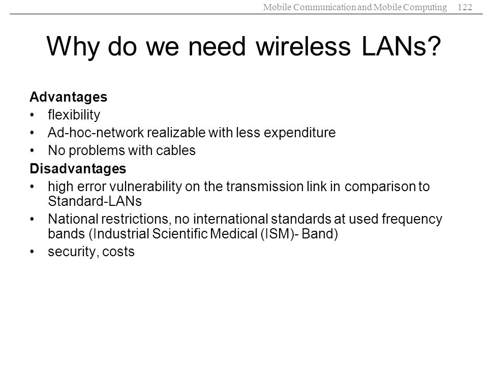 Why do we need wireless LANs