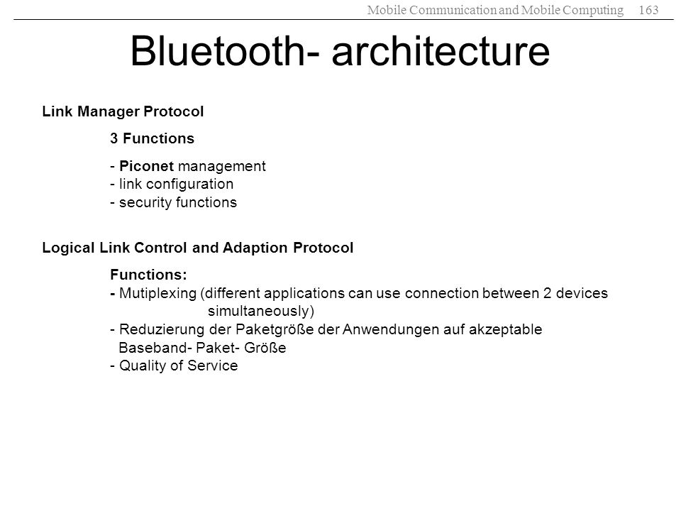 Bluetooth- architecture