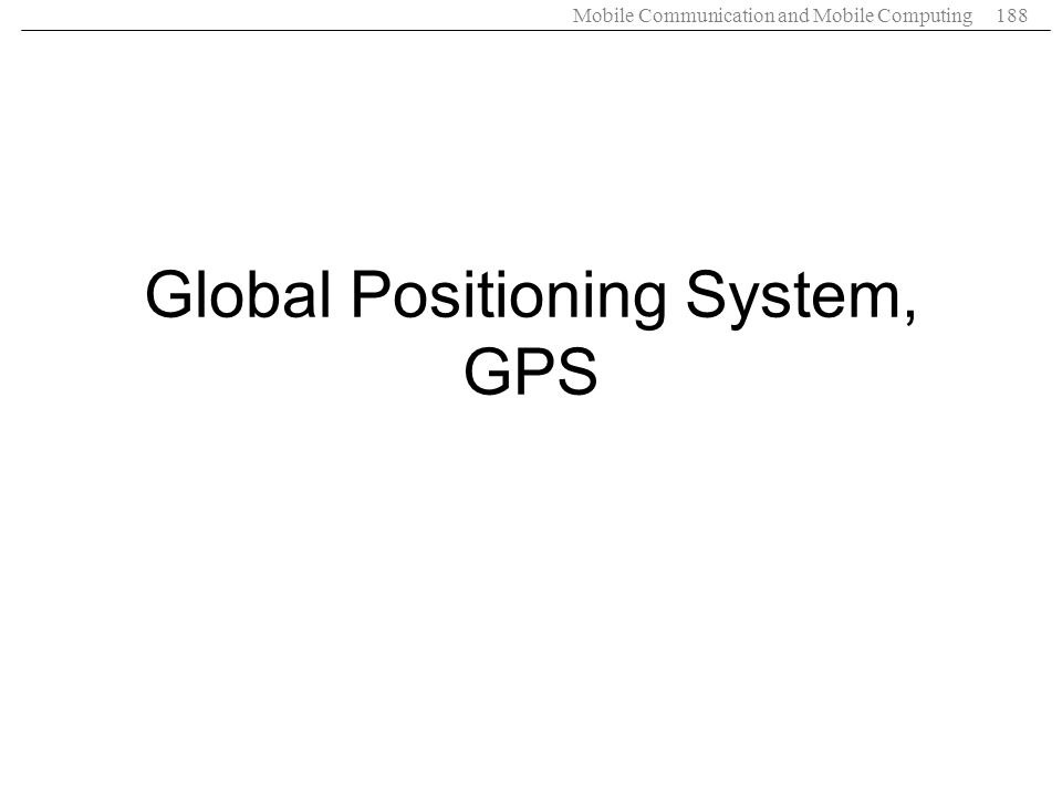 Global Positioning System, GPS