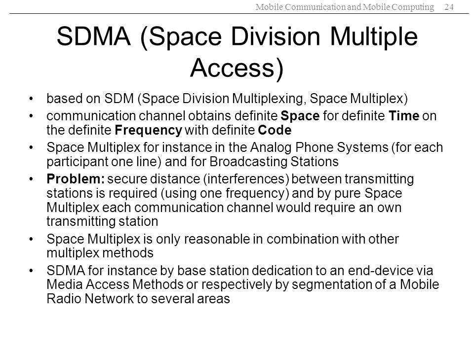 SDMA (Space Division Multiple Access)