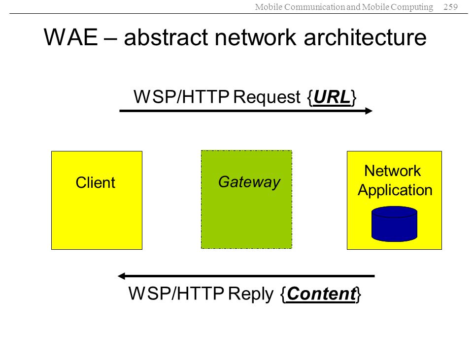 WAE – abstract network architecture