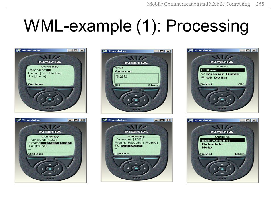WML-example (1): Processing