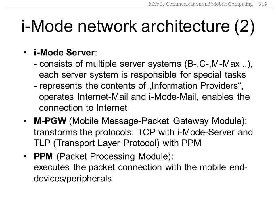 i-Mode network architecture (2)