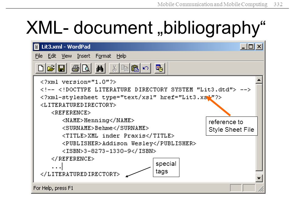 "XML- document ""bibliography"