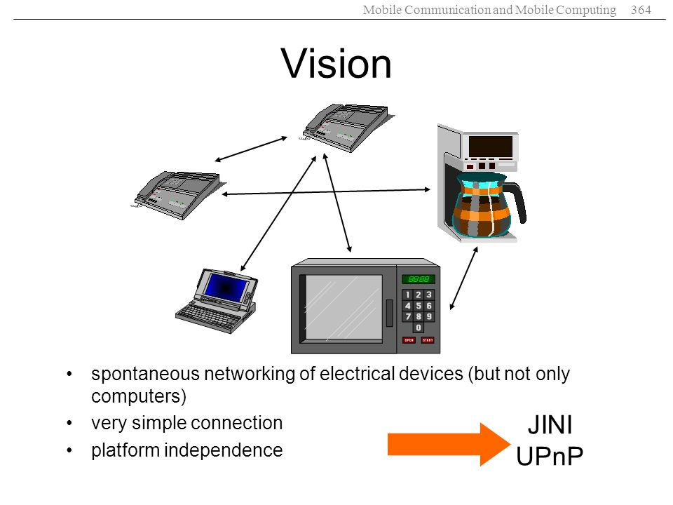 Vision spontaneous networking of electrical devices (but not only computers) very simple connection.