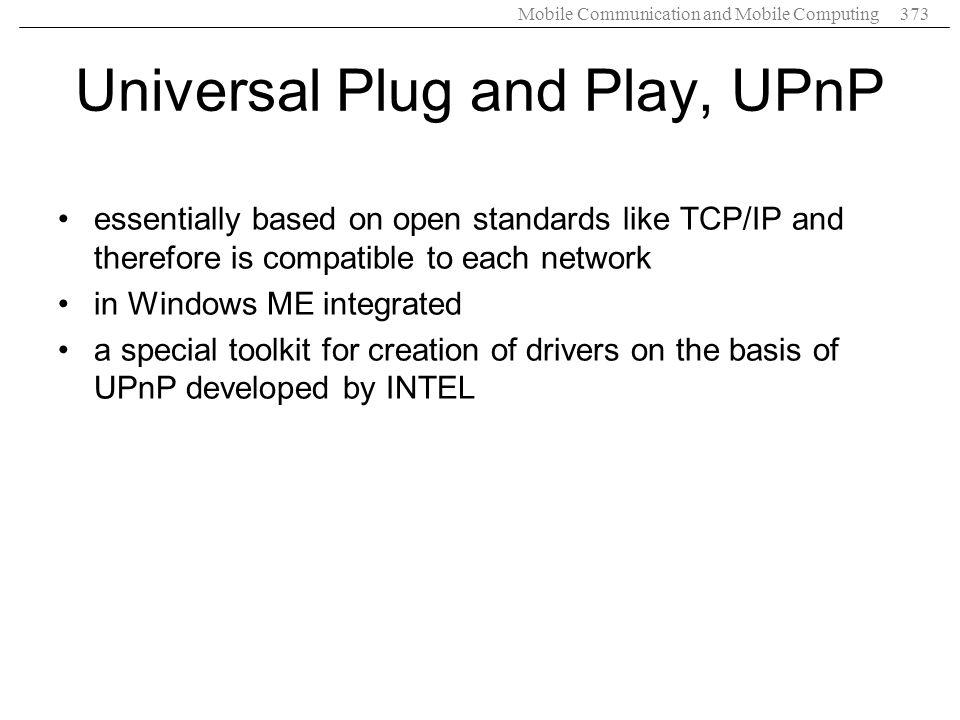 Universal Plug and Play, UPnP