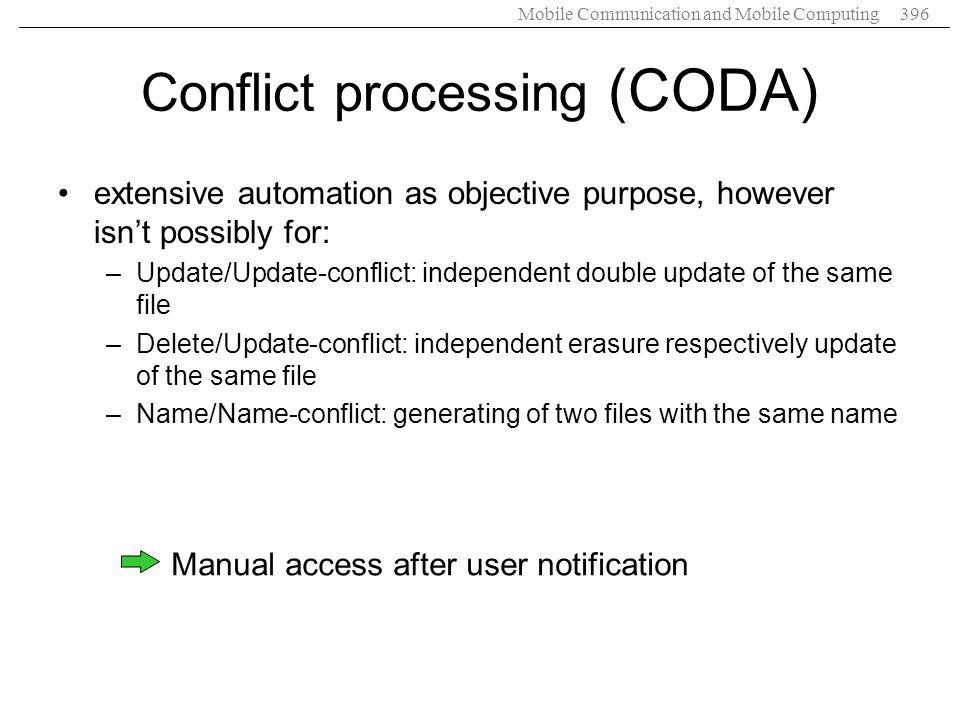 Conflict processing (CODA)