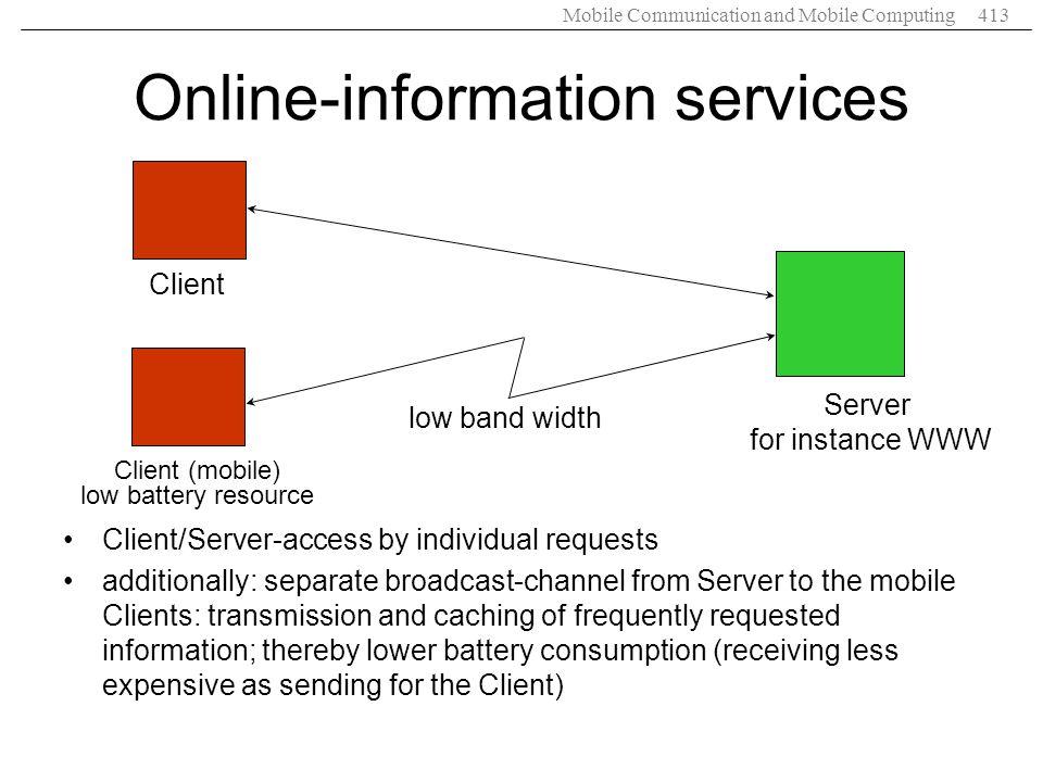 Online-information services