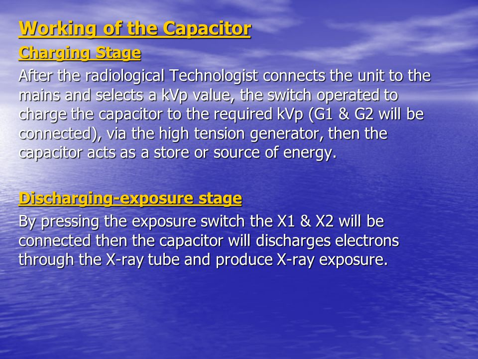 Working of the Capacitor