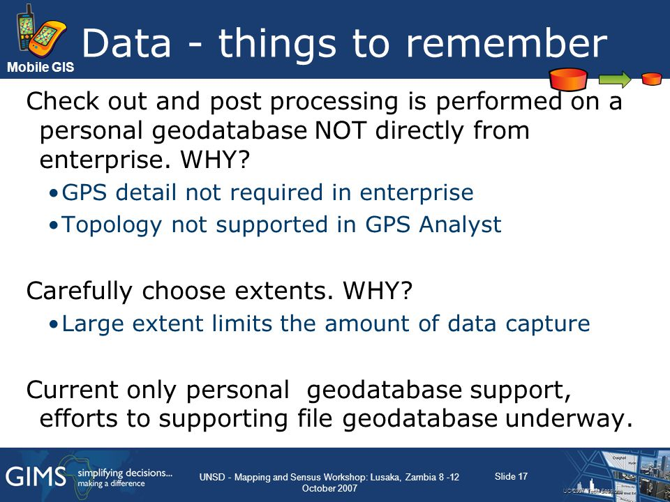Data - things to remember