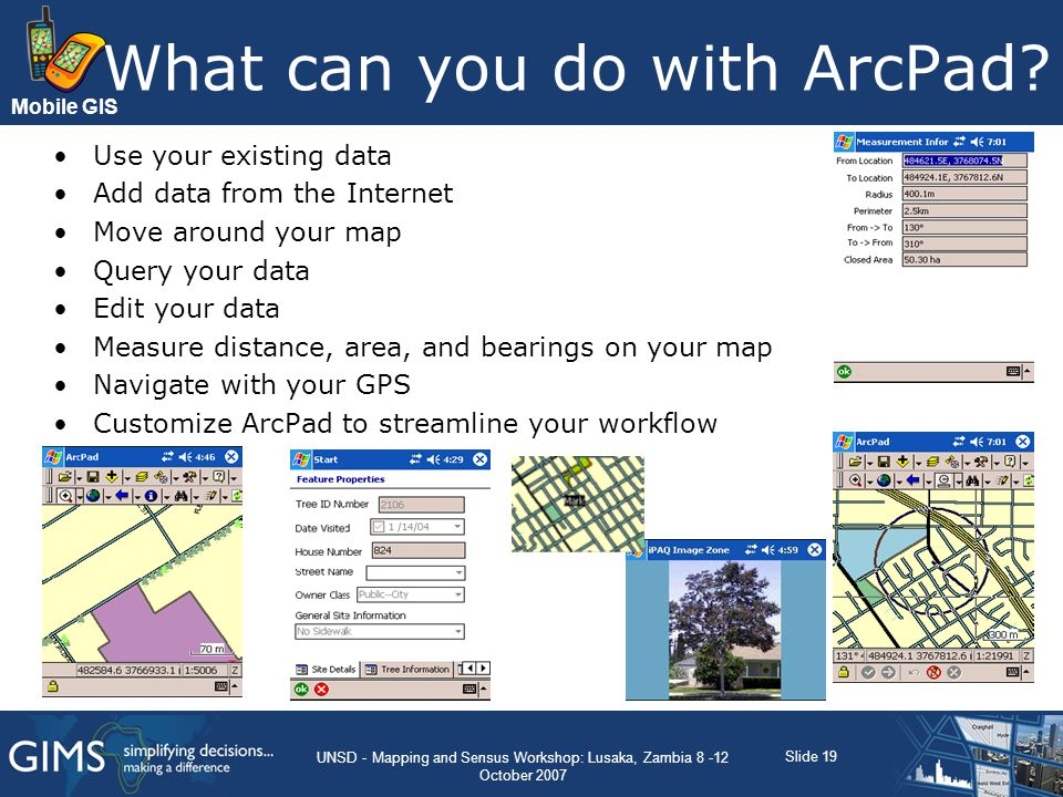 What can you do with ArcPad