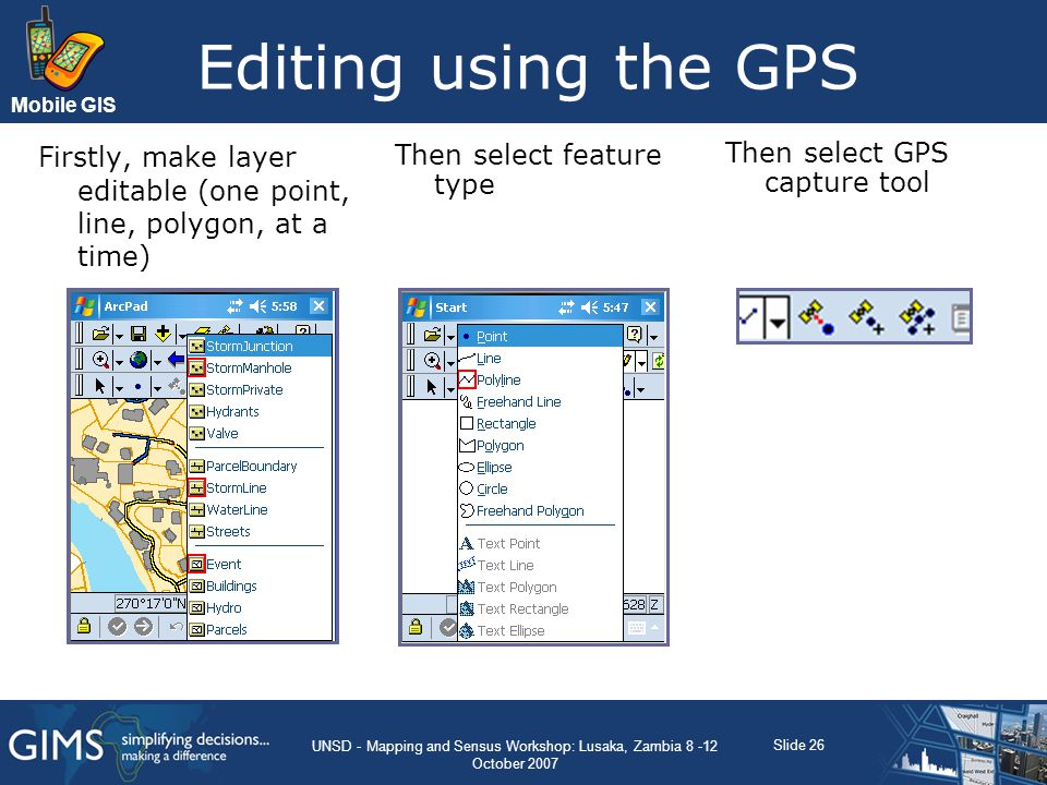 UNSD - Mapping and Sensus Workshop: Lusaka, Zambia 8 -12 October 2007