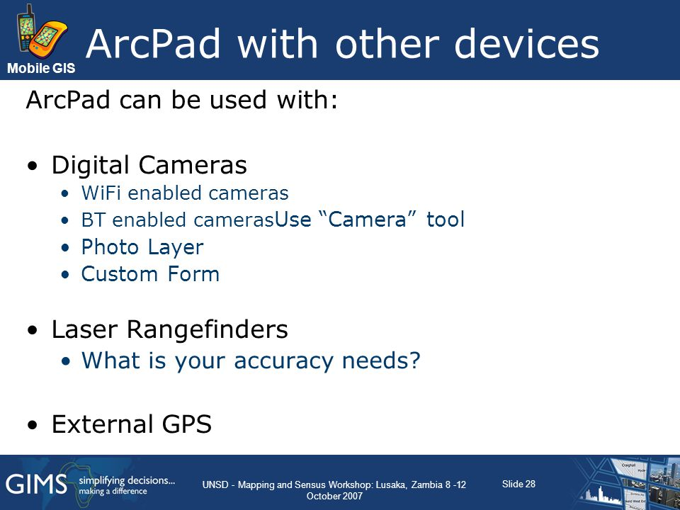 ArcPad with other devices
