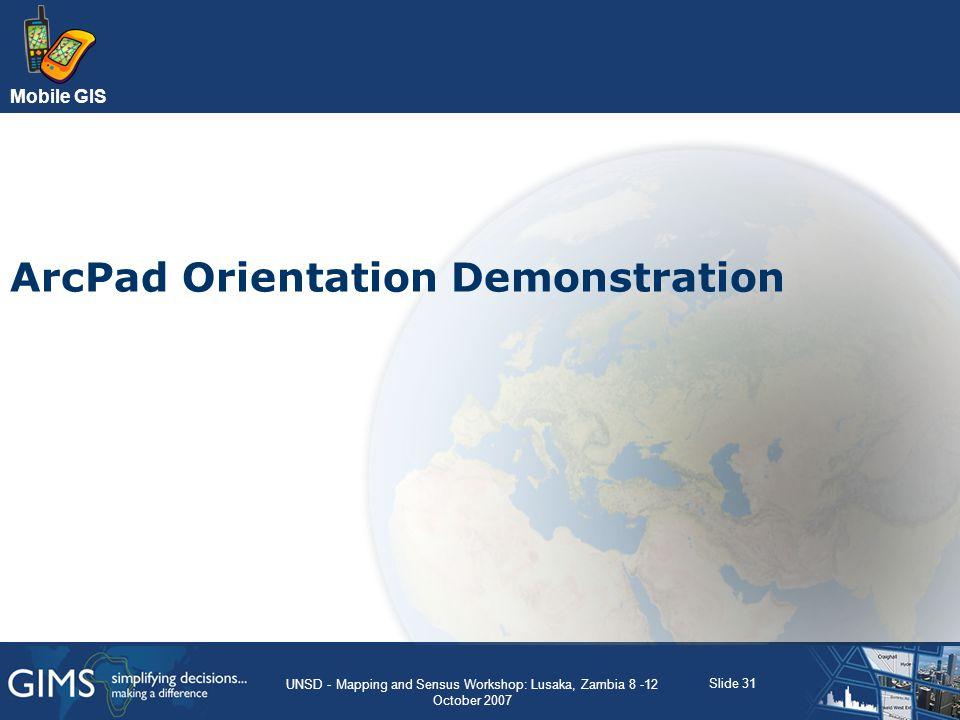 ArcPad Orientation Demonstration