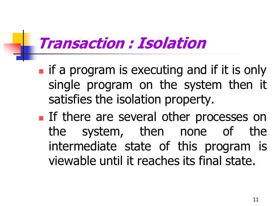 Transaction : Isolation