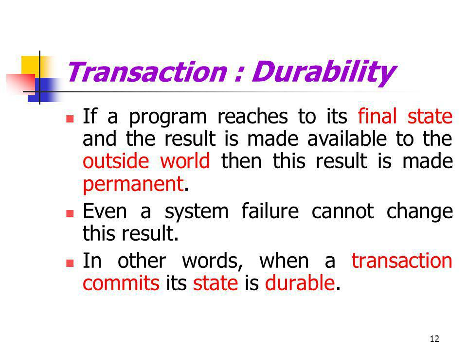 Transaction : Durability