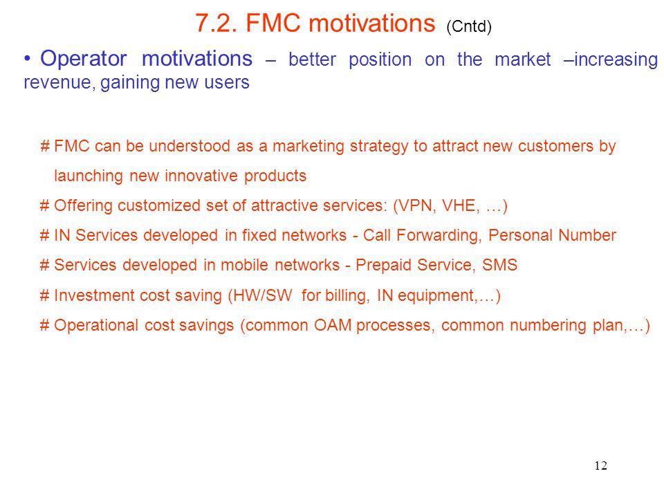 7.2. FMC motivations (Cntd)