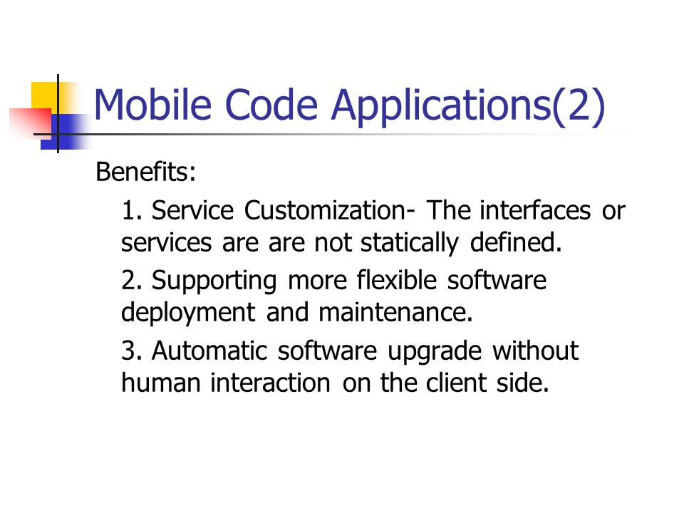 Mobile Code Applications(2)