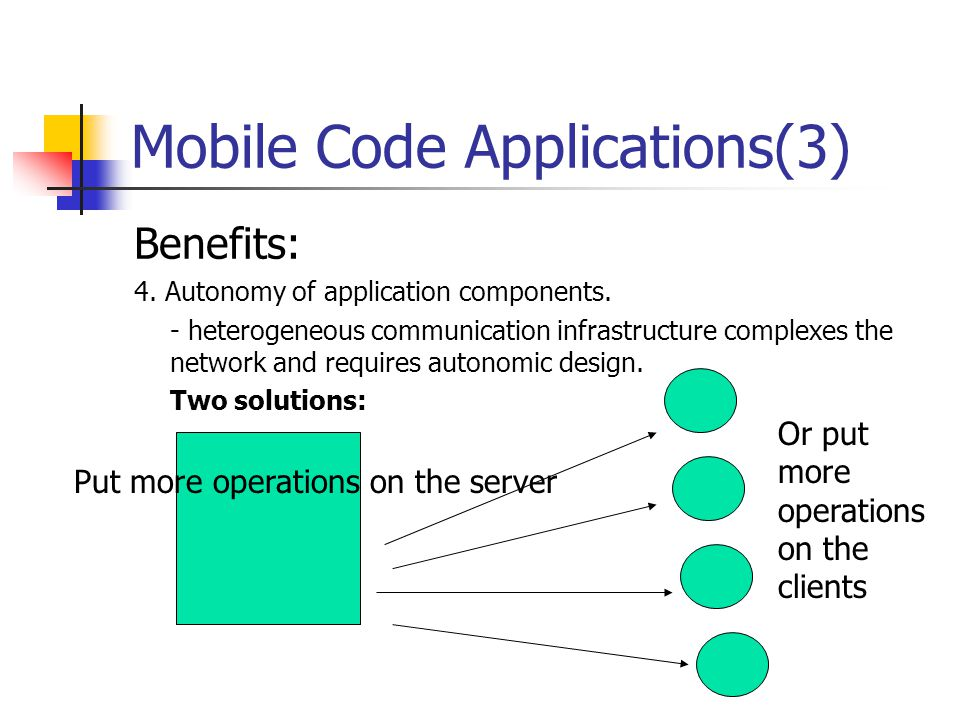 Mobile Code Applications(3)