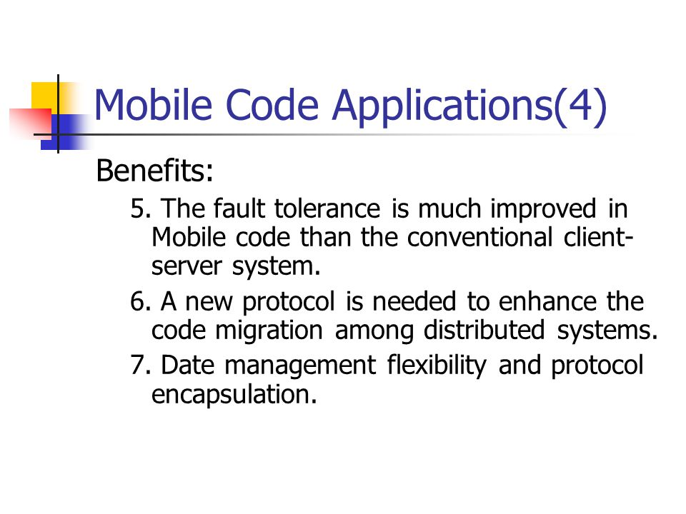 Mobile Code Applications(4)