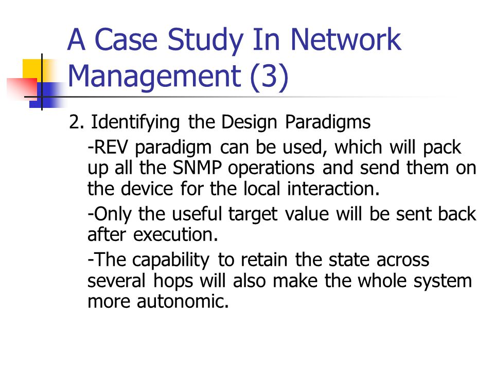 A Case Study In Network Management (3)