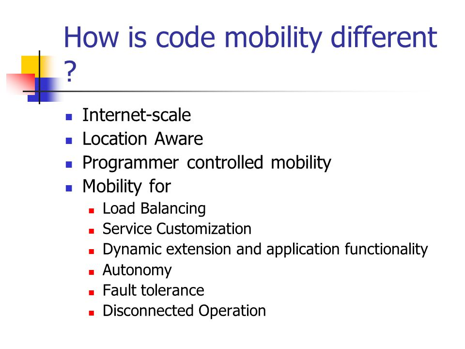 How is code mobility different