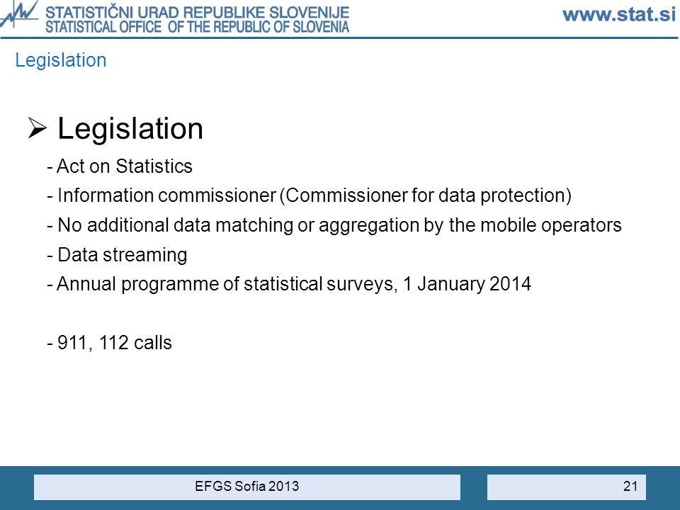 Legislation Legislation - Act on Statistics