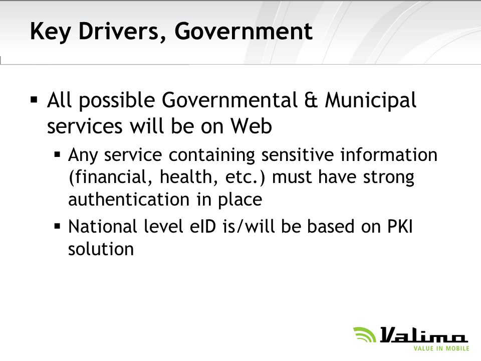 Key Drivers, Government