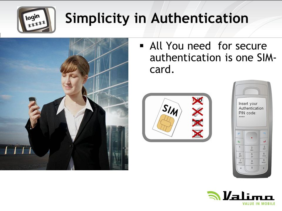 Simplicity in Authentication