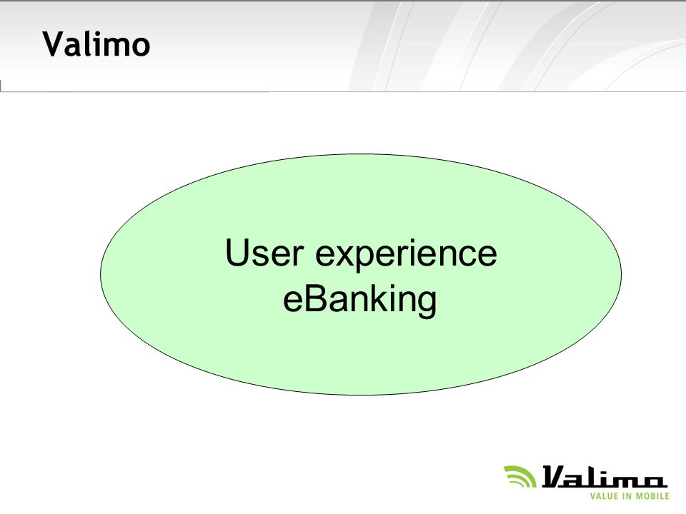 Valimo User experience eBanking