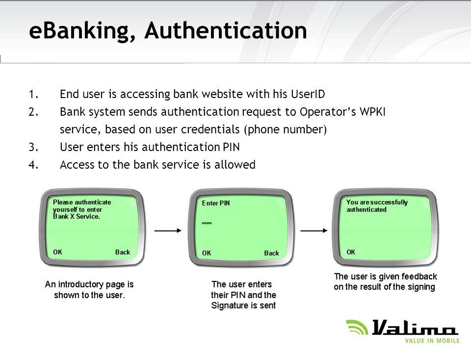 eBanking, Authentication