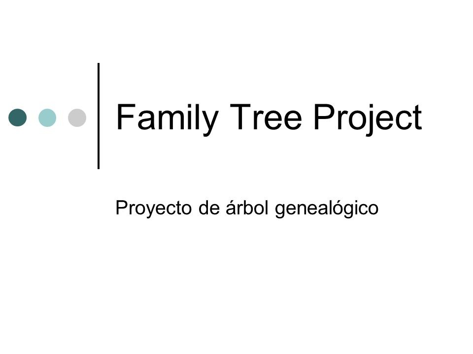 Proyecto de árbol genealógico