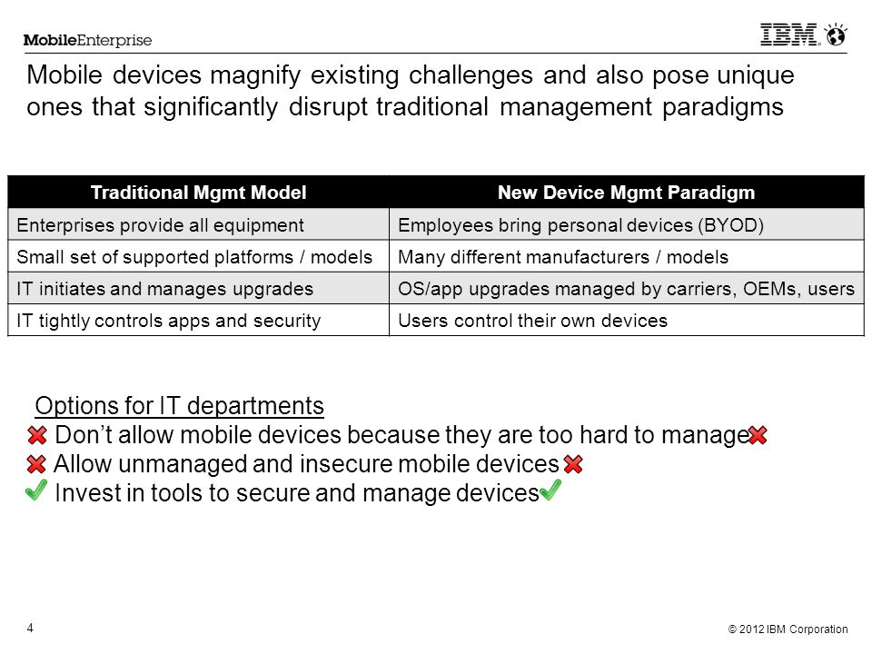 Traditional Mgmt Model New Device Mgmt Paradigm