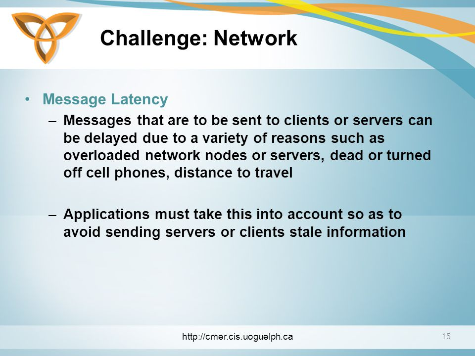 Challenge: Network Message Latency
