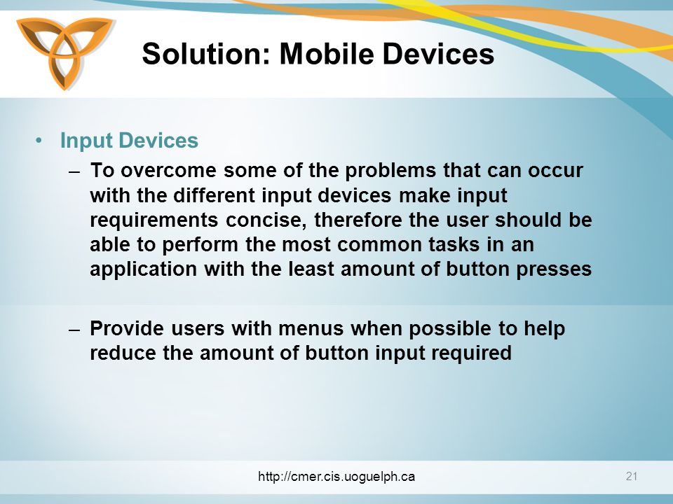 Solution: Mobile Devices