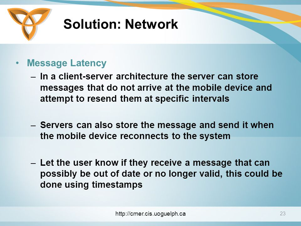Solution: Network Message Latency