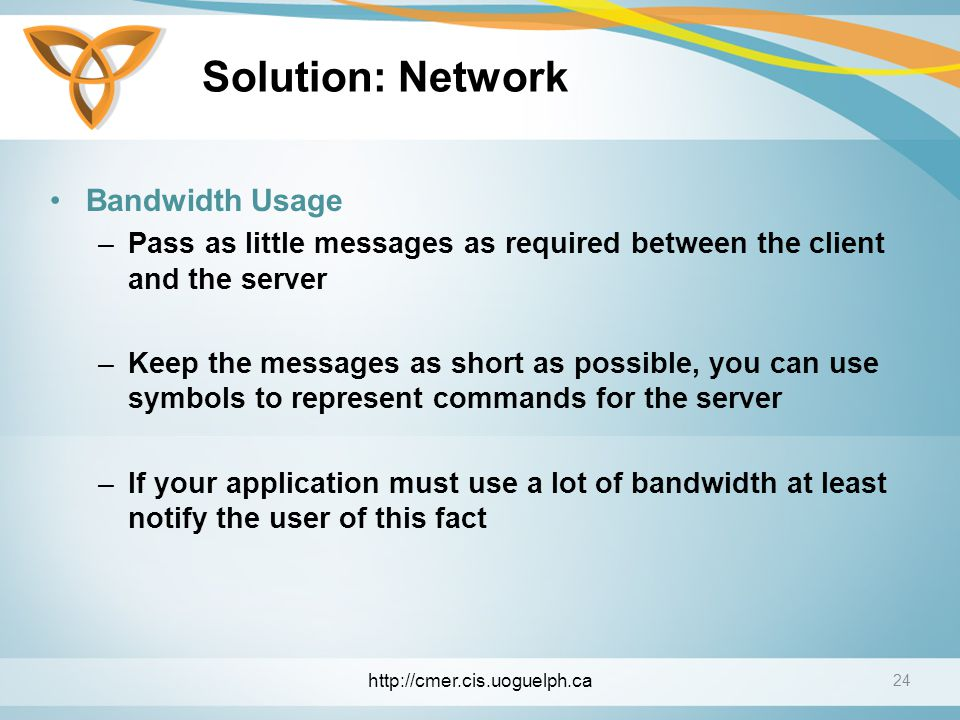 Solution: Network Bandwidth Usage