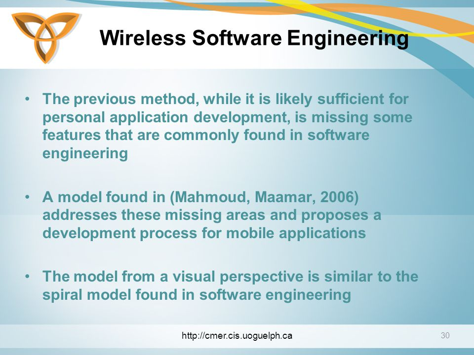 Wireless Software Engineering