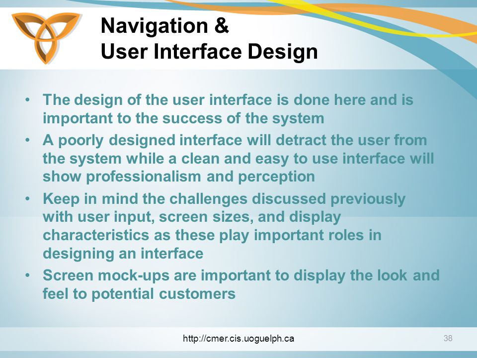 Navigation & User Interface Design