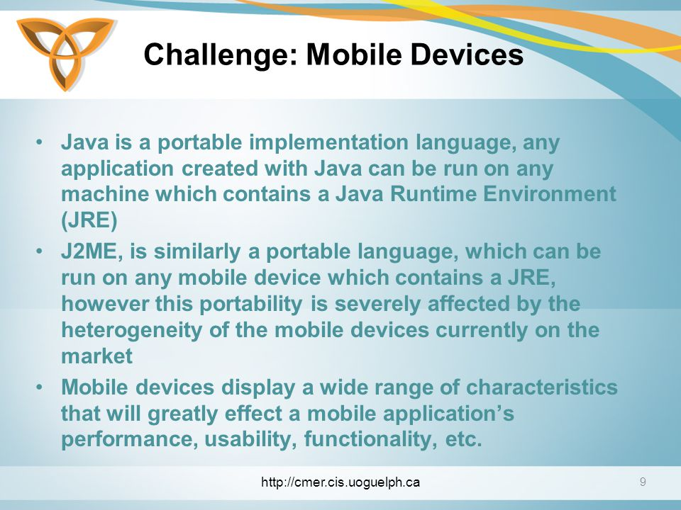 Challenge: Mobile Devices