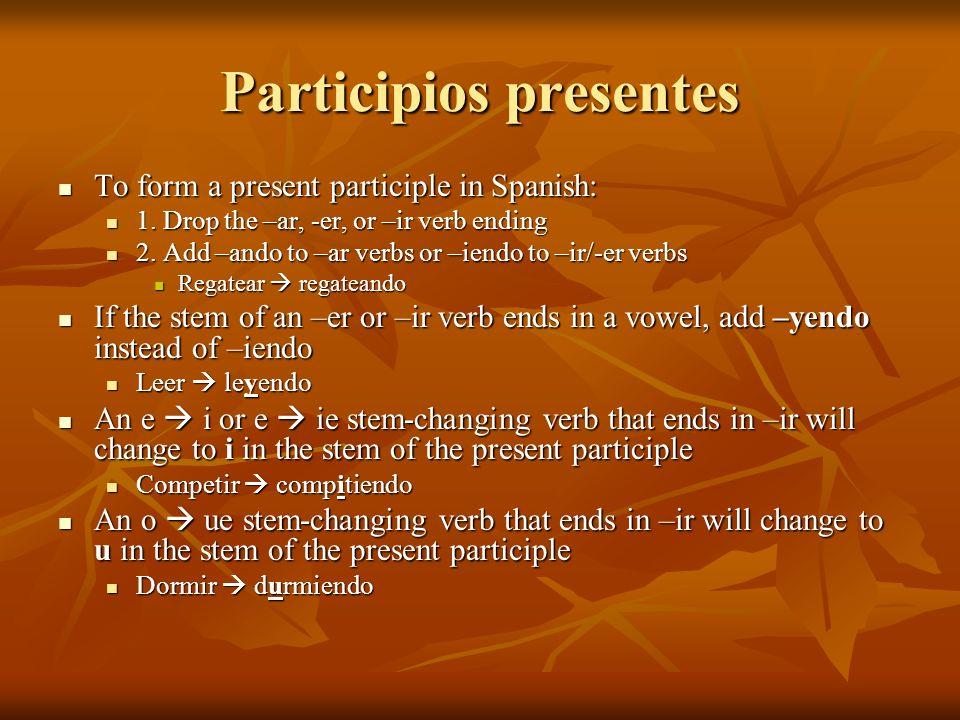 Participios presentes