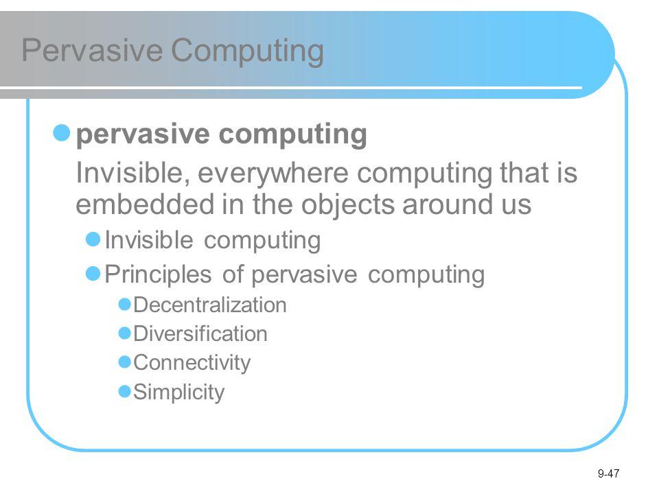 Pervasive Computing pervasive computing