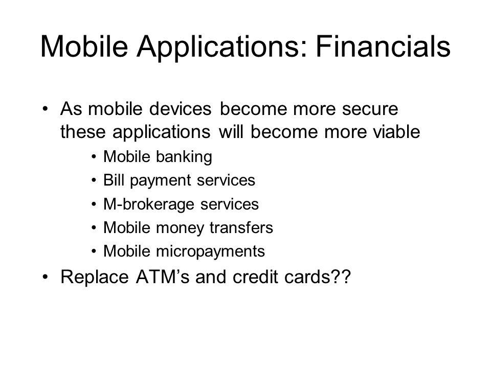 Mobile Applications: Financials