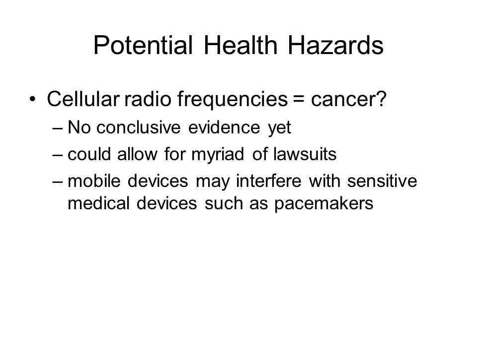 Potential Health Hazards