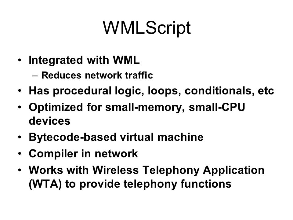 WMLScript Integrated with WML