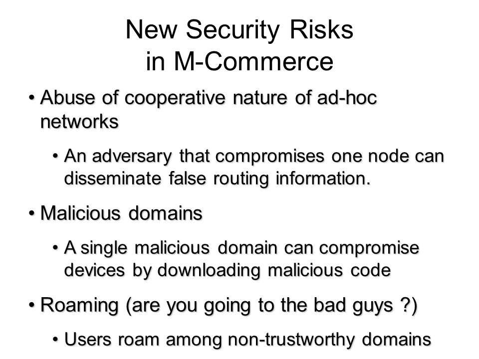 New Security Risks in M-Commerce