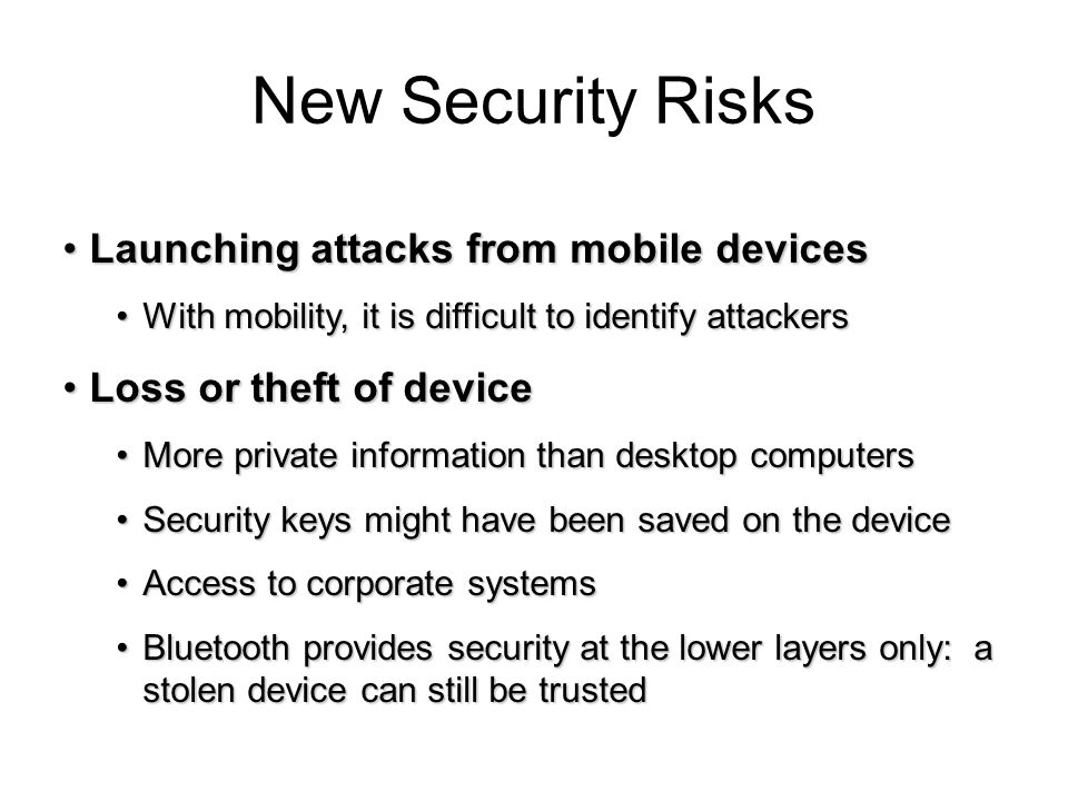 New Security Risks Launching attacks from mobile devices