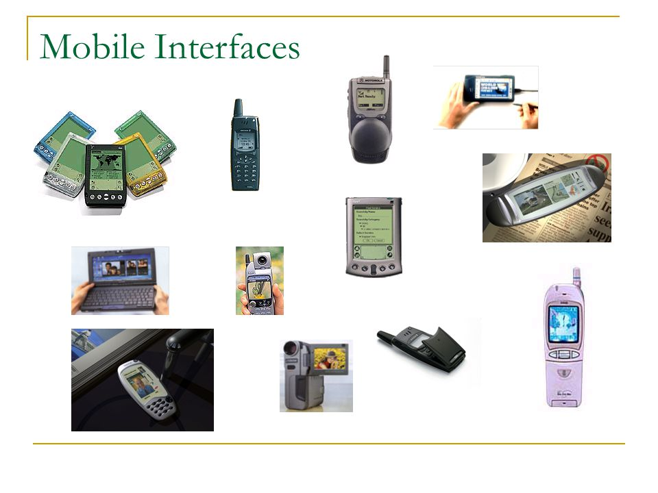 Mobile Interfaces