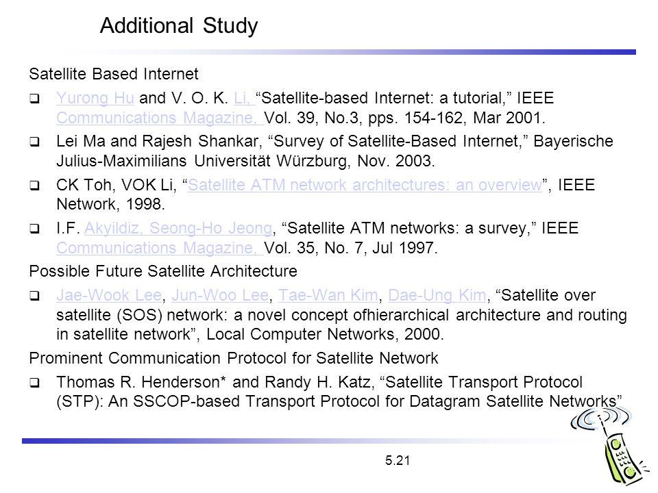 Additional Study Satellite Based Internet